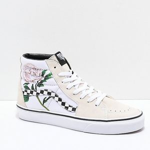 Vans Sk8-Hi Checker Floral Skate Shoe